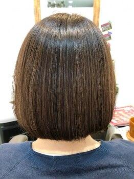 ちゅら髪の写真/頭皮に優しいカラー剤使用なので、ひりつきの原因、過酸化水素の刺激を最低限にする一手間を加えてます!