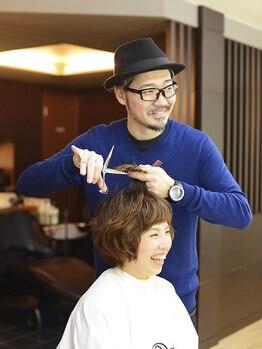デフ ヘアー ブランド Def Hair BRANDの写真/1人1人の髪質・毛量を見ながら細かく調整する【お客様専用のカット】でサロン帰りのスタイルが長く続く☆彡