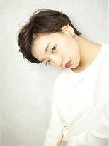 ベック ヘアサロン(BEKKU hair salon)かきあげた前髪でクールなエッジモードショートスタイル☆
