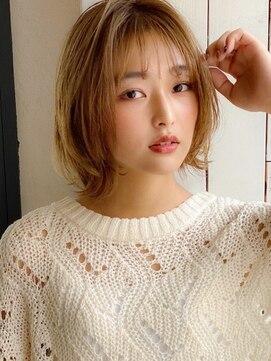 アグ ヘアー ドレス 喜久田店(Agu hair dress)《Agu hair》大人かわいい ショートヘア シースルーバング