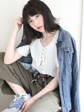 レガロヘアーデザイン(Regalo hair design)Regalo☆大人かわいいダークグレーアッシュの外はねボブ☆