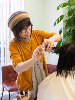 ナチュラル ヘア レイナ(Natural Hair REINA)の写真/【布施】オーナースタイリストがすべてを担当!楽しくおしゃべりしながら、いつの間にかキレイになれる☆