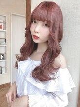 ユーフォリア(Euphoria SHIBUYA GRANDE)【Euphoria 須藤】ケアブリーチで艶髪 上品ピンクベージュ