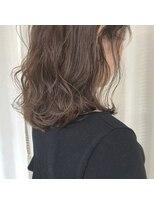 アリーズヘアー 青山(allys hair)透明感◎ ハイライト × グレージュ ふわミディ