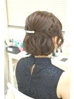 編み込みハーフ