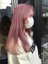ヘアー アイス ルーチェ(HAIR ICI LUCE)ブリーチ☆ピンクカラー 春カラー ホワイトピンク 担当山中