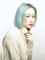 ピークアブー 原宿(PEEK A BOO)水色カラー×ボブ
