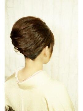 結婚式 和装 髪型 アムールマヤちょっと大人な着物ヘア☆