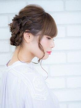 オーブ ヘアー リンク 葛西店(AUBE HAIR link)の写真/【当日全員OK!!】結婚式/二次会/卒業式…そんな特別な日は、可愛いく崩れにくいプロ技のセットを!