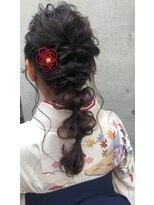 【三瓶彩文】卒業式 入学式 アレンジ マロンブラウン 横浜