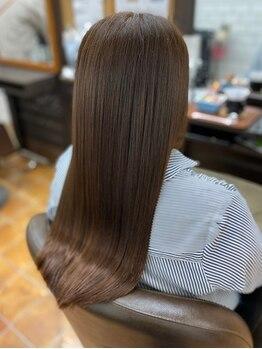 アンダンテ 名取駅前店(andante)の写真/【名取駅すぐ!】髪質改善ヘアエステサロンで驚きの仕上がりを実感してみて!ずっと触っていたくなる髪へ。