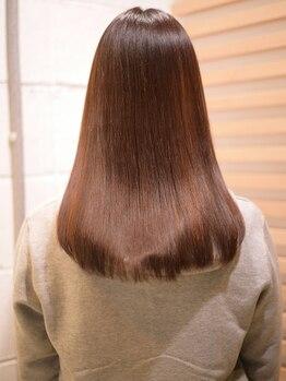 マルクヘアケア(MALQ HAIR CARE)の写真/髪質改善MENUで髪のコンディションを整え、自然なストレートへ。ヘアデザインの幅も広がります★【福井】