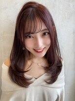 アフロート ワールド 渋谷(AFLOAT WORLD)渋谷アフロート 張替 女性らしいシルエット ピンクブラウン