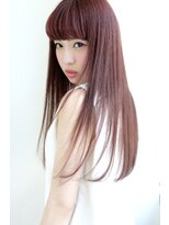 【Blanc/広島】ピンクバイオレット_ストレートロング