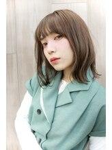 ロギア ニコ(hair LOGiA nico)★hair LOGiA★ ほんのりインナーカラー ゆるミディアム