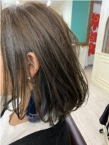 ヘアアンドメイクグラチア(HAIR and MAKE GRATIAE)秋色☆ブルーグレージュ、ハイライトグラデーション