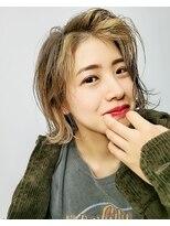 エイム ヘアメイク 横川店(eim HAIR MAKE)フェイスフレーミング×ライトベージュ