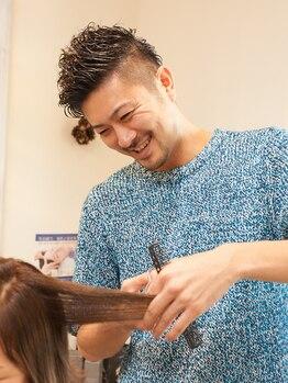 ヘアーアンドメイク キックス(hair&make KIX)の写真/≪圧巻の技術×高い提案力≫数々のコンテストで受賞歴あり◎伸びた後もキレイにまとまる高い再現性が定評♪