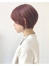 ジェムヘアスタジオ 湘南平塚南口店(Gem Hair Studio)Gem Hair Studio 姉崎 ピンクベージュ/丸みショートボブ