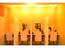 オーガニックカラー専門店 色彩堂の雰囲気(セルフブロースペースは仕切りがあり、人気のドライヤーを完備♪)