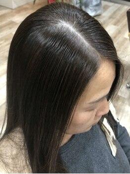ラポールヘア 大阪横堤店の写真/髪と頭皮を優しくケア♪刺激が少なく、持ちが良い上質なカラー剤を使用。持ちが悪いとは言わせません!