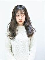 ヘアーライズ 池袋東口店(hair RISE)ミルクティーハイトーングラデーションカラー波巻き