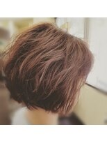 hair sos 小顔ブラントボブ