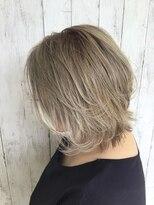 N.髪質改善×白髪を活かしたブリーチカラー