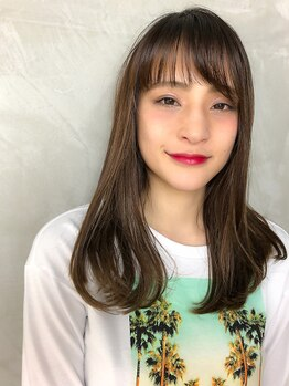 クーシ(kuusi)の写真/【ダメージレス&透明感】艶々で透けるような色味♪カラーを繰り返すほど美しい髪に★イルミナカラー¥6600