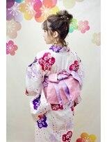 サロンド クラフト(salon de craft)【浴衣レンタル】華やかな編み込みフルアップシニヨン♪