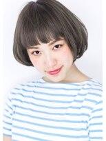 ヘアサロン ガリカ 表参道(hair salon Gallica)『 グレージュ 』 × 『 オン眉 』大人ワンカールボブスタイル☆