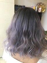 ヘアー ドレッシング ラビス(Hair Dressing Lovis)purple×White グラーデーション