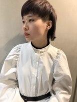 ヘアー アイス ルーチェ(HAIR ICI LUCE)担当西田 ショートウルフ デザインカラー 2ブロック