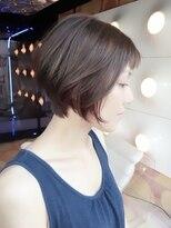 【WORKS】☆前髪あり!!ナチュラルショートボブ+ポイントカラー☆