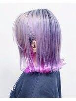 ナンブウエスト(nambu-WEST)ホワイトパープル×インナーカラーピンク