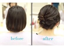 【Step4☆ヘアセット】綺麗で崩れにくいヘアスタイルが20から30分で押上可能!!