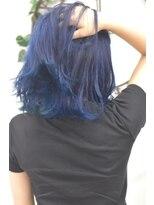 ヘアーサロン エール 原宿(hair salon ailes)(ailes原宿)style369 デザインカラー☆オーシャンブルー