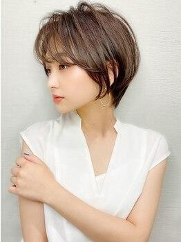 """ラルユー(LallYou)の写真/360度どこから見ても""""可愛い""""Style♪前髪+αのデザインで、""""小顔魅せ""""を叶えるショートヘアへ♪"""