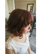 ヘアーアンドメイク ナイス(Hair&make NICE)ピンクブラウンカラー