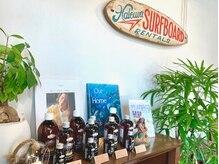 カットショップ ハレイワ(Cut Shop Haleiwa)の雰囲気(オーガニック取扱認定店。頭皮~髪質ケア、お肌ケア商品取扱あり)