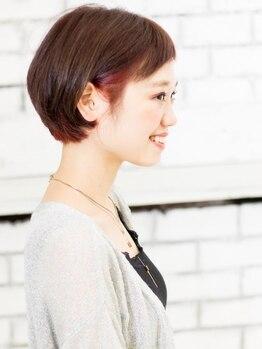 ヘアメイク ニコ(Hair make Nico)の写真/<シンプル可愛い女子>頑張りすぎないオシャレで大人っぽく♪色持ち、発色の良いナチュラルカラー提案♪