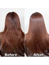 ビューティーアンドケアカロン(Beauty and Care CALON)【銀座】30代40代/髪質改善酸性ストレートパーマで自然なツヤ髪