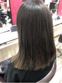 ヘアー カラー マート 武佐店(Hair color MART)の写真/話題の水素トリートメント導入!水素の力で髪の栄養成分の浸透を高め、内部からうるツヤな髪へ導きます!