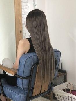 アイボリーヘアワークスアンドエステティック(Ivory Hair works Esthetic)の写真/《石井町》貴方の髪質やダメージレベルに最適な物をプランニング♪ダメージ毛先までしっかり補修。