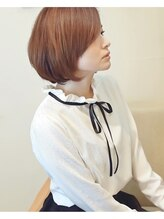 エム 綾瀬店(hair make e6+)長めバング◇ひし形ボブ