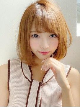 アグ ヘアー ドレス 喜久田店(Agu hair dress)《Agu hair》大人かわいい小顔ナチュラルボブ
