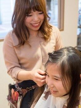 ドルチェ ヘアー 横堤店(DOLCE hair)の写真/【横堤駅スグ☆】お子様連れのママさん大歓迎!扱いやすく、まとまるスタイルで朝のセットも楽チン♪