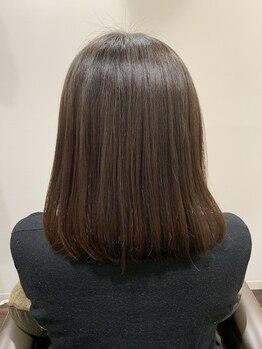 リンクス ヘアーアンドリラックス(Link's Hair&Relax)の写真/ハホニコトリートメントは光沢感のある仕上がりで毛先までしっかりまとまる◎贅沢ケアでうるツヤ髪に☆