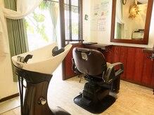 ヘアーリゾート アトリエ ソレイユ 相武台(Hair Resort Atelier SOLEIL)の雰囲気(可動式シャンプー台だから移動なしでゆったり寛げる…♪)