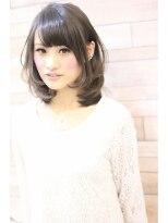 アイフラップ(I-FLAP)小川淳子 ナチュラル可愛い耳かけ×黒髪ワンカール小顔ミディ♪